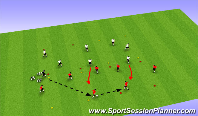 Football/Soccer Session Plan Drill (Colour): Part III: Rondo Transition