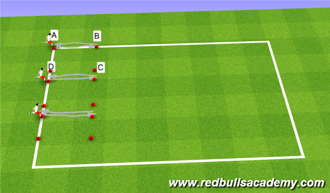 Football/Soccer Session Plan Drill (Colour): Alternative Relay Race