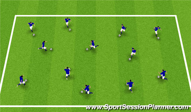 Football/Soccer Session Plan Drill (Colour): 1000 touch challenge