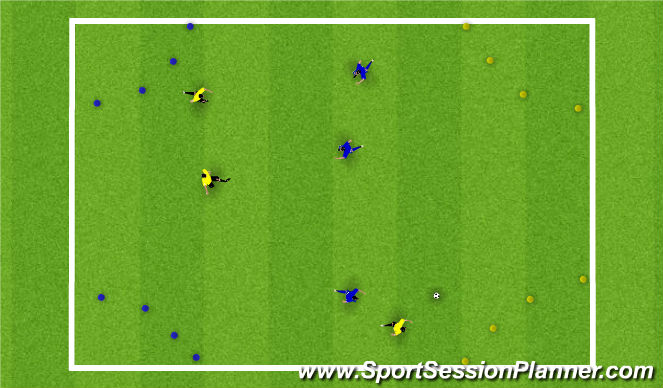 Football/Soccer Session Plan Drill (Colour): SSG Transition