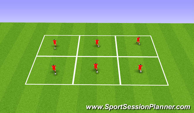 Football/Soccer Session Plan Drill (Colour): Coerver Boxes