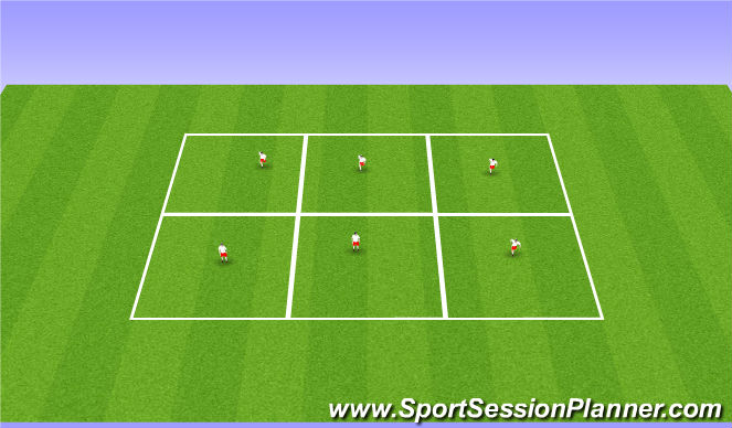 Football/Soccer Session Plan Drill (Colour): NetBall Warmup
