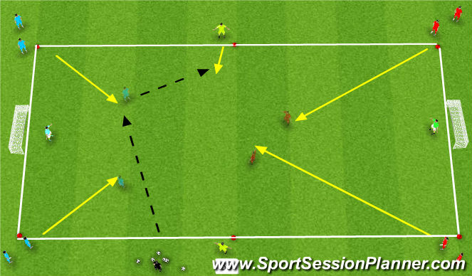 Football/Soccer Session Plan Drill (Colour): Small sided activity(Global)