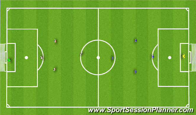 Football/Soccer Session Plan Drill (Colour): 5 v 5 SSG