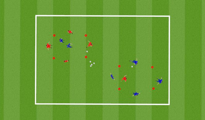 Football/Soccer Session Plan Drill (Colour): Warm Up (15 Mins)