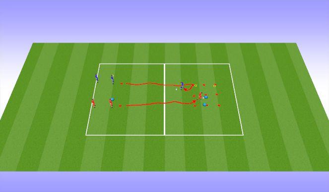 Football/Soccer Session Plan Drill (Colour): Tic tac toe