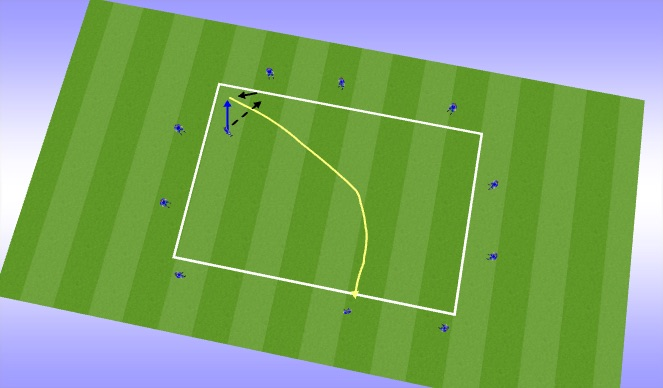 Football/Soccer Session Plan Drill (Colour): short/long pass