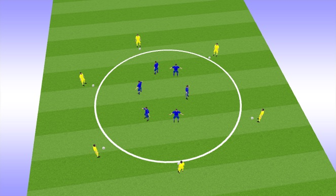 Football/Soccer Session Plan Drill (Colour): first touch