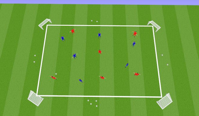 Football/Soccer Session Plan Drill (Colour): Main Activity 2 (20 Mins)