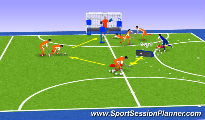 Hockey Session Plan Drill (Colour): MJ 4