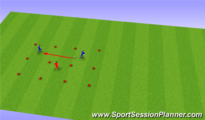 Football/Soccer Session Plan Drill (Colour): Passing sections