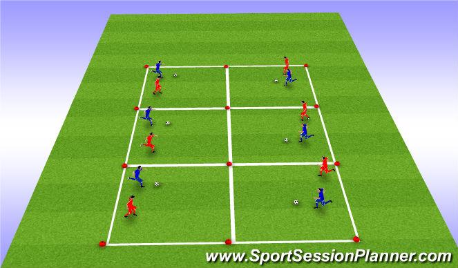 Football/Soccer Session Plan Drill (Colour): Game 1: 1v1