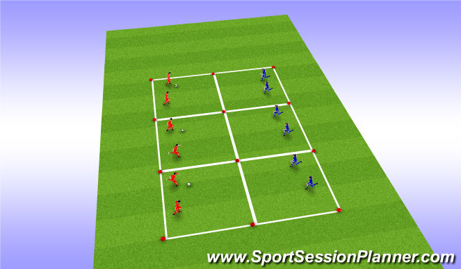 Football/Soccer Session Plan Drill (Colour): Game 2: 2v2