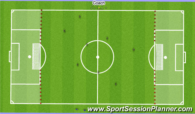 Football/Soccer Session Plan Drill (Colour): SSG - Winner Stays On