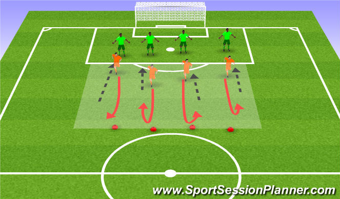 Football/Soccer Session Plan Drill (Colour): move review