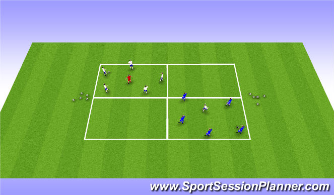 Football/Soccer Session Plan Drill (Colour): 5v1 Rondos