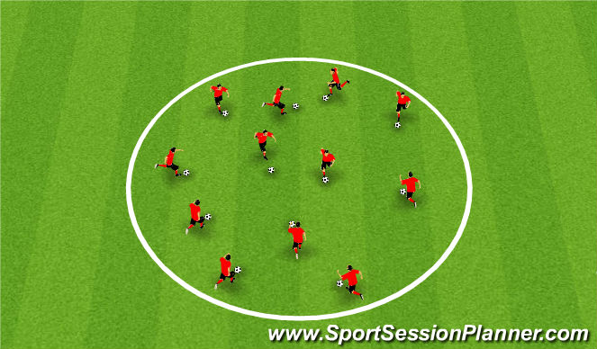 Football/Soccer Session Plan Drill (Colour): Warm up 1000 touches
