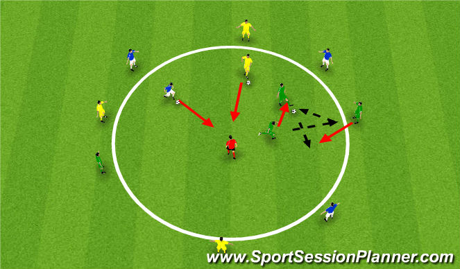 Football/Soccer Session Plan Drill (Colour): Tech Opposed