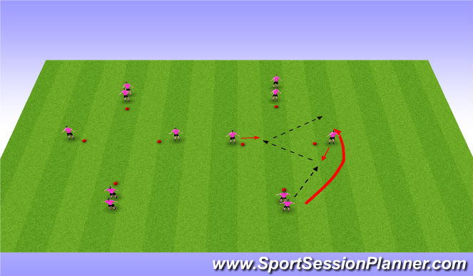 Football/Soccer Session Plan Drill (Colour): Tech Progression