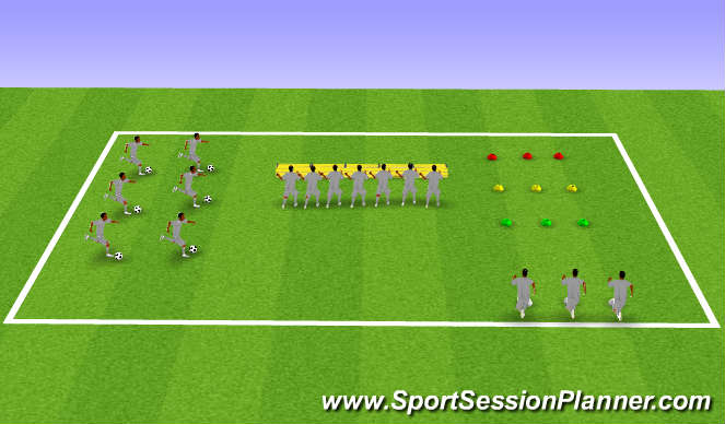Football/Soccer Session Plan Drill (Colour): Wall Drives, Plyometrics & Sprints