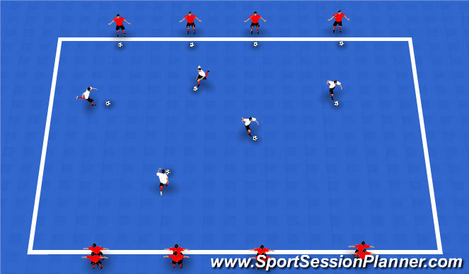 Futsal Session Plan Drill (Colour): Ball manipulation Warm Up