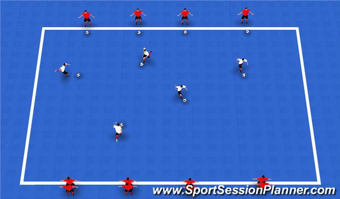 Futsal Session Plan Drill (Colour): Ball manipulation Warm Up