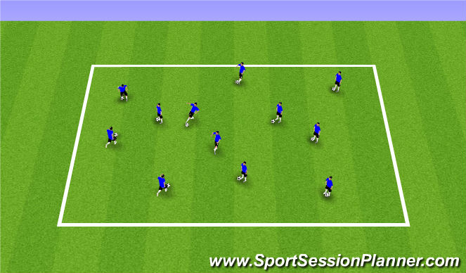 Football/Soccer Session Plan Drill (Colour): Mini Juggling
