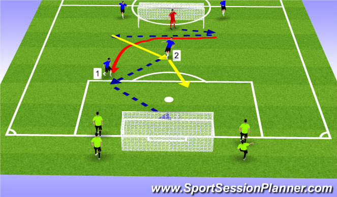 Football/Soccer Session Plan Drill (Colour): overlaps