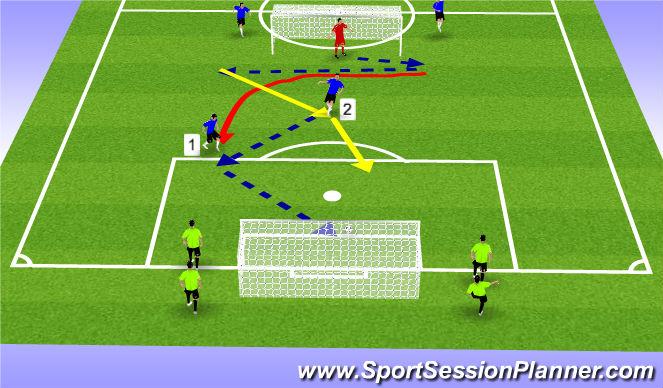 Football/Soccer Session Plan Drill (Colour): overlaps