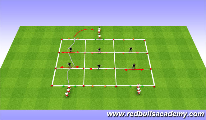 Football/Soccer Session Plan Drill (Colour): moves-opposed