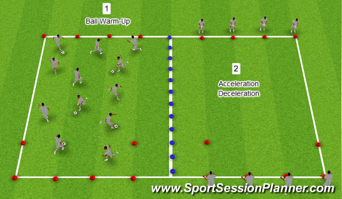 Football Soccer U14 Warm Up Week 21 Session 2