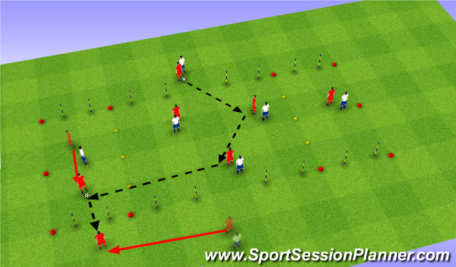Football/Soccer Session Plan Drill (Colour): Possession Game 1