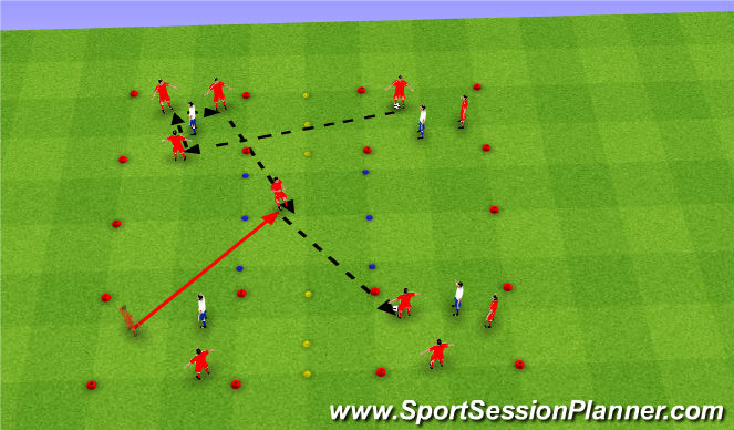 Football/Soccer Session Plan Drill (Colour): Possession game 3