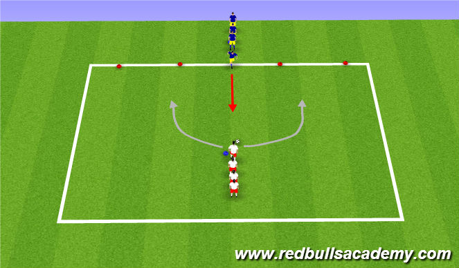 Football/Soccer Session Plan Drill (Colour): Main Theme (1v1 Creativty II)