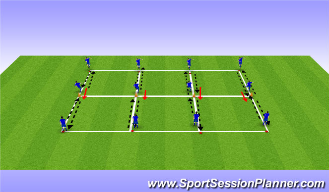 Football/Soccer Session Plan Drill (Colour): REceive, Pass & Turn
