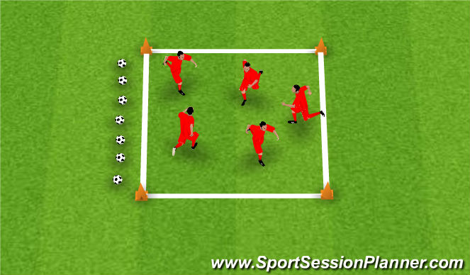 Football/Soccer Session Plan Drill (Colour): Warm Up & Stretching