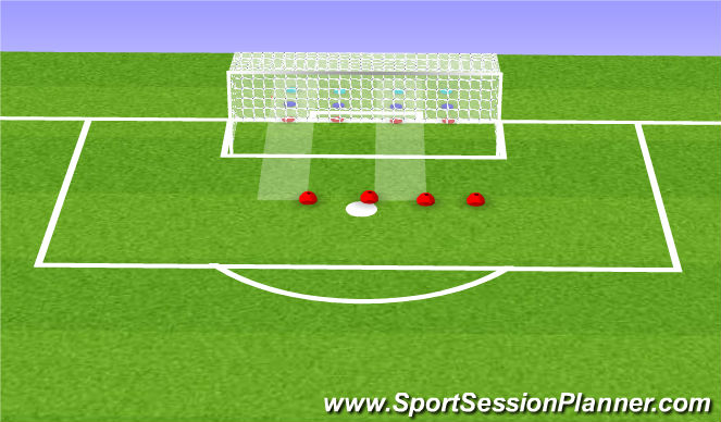 Football/Soccer Session Plan Drill (Colour): Staying in your lane!