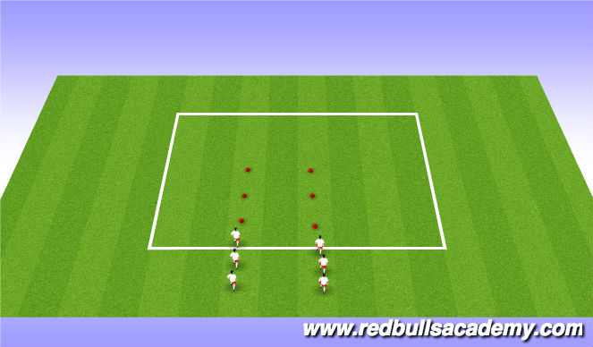 Football/Soccer Session Plan Drill (Colour): Dynamic Warmups