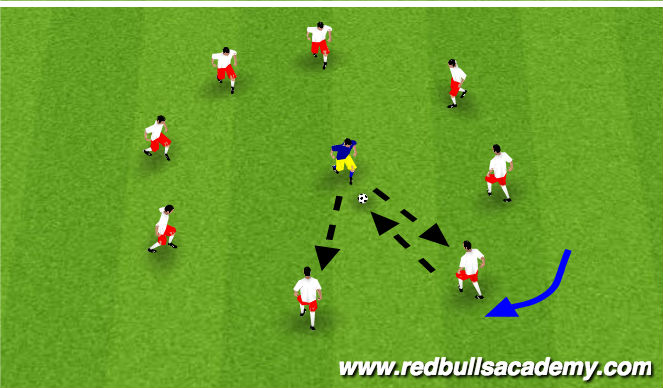 Football/Soccer Session Plan Drill (Colour): Passing - 2