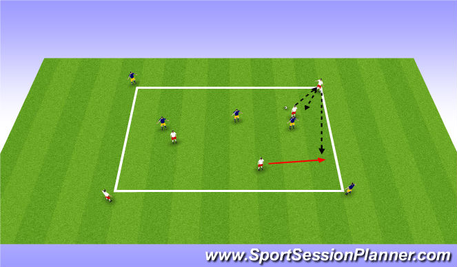 Football/Soccer Session Plan Drill (Colour): Turning SS