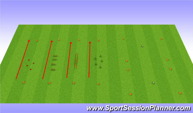 Football/Soccer Session Plan Drill (Colour): Warm up and passing