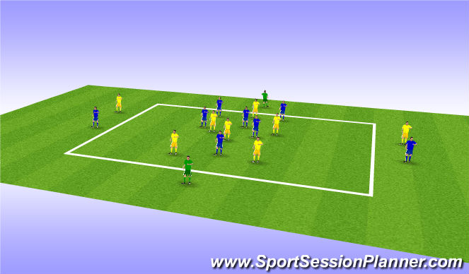 Football/Soccer Session Plan Drill (Colour): Posession and game