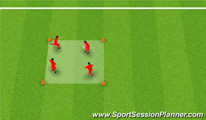Football/Soccer Session Plan Drill (Colour): The Box