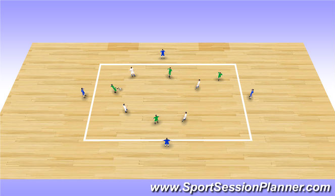 Futsal Session Plan Drill (Colour): Screen 5 (15')