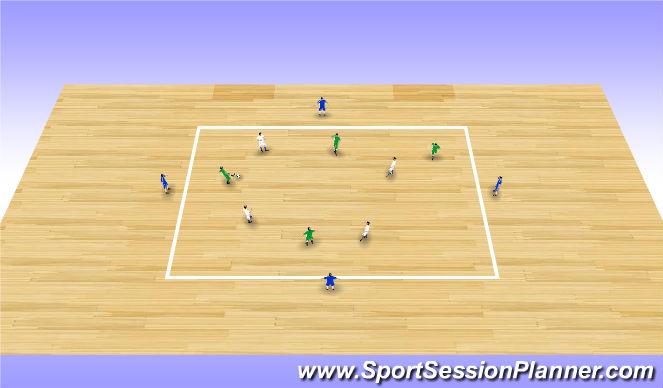 Futsal Session Plan Drill (Colour): Screen 5 (15')