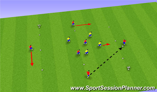 Football/Soccer Session Plan Drill (Colour): Part I