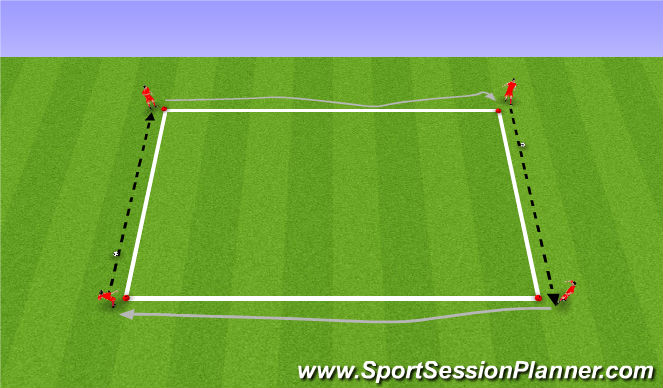 Football/Soccer Session Plan Drill (Colour): 2. Knattrak og sending.