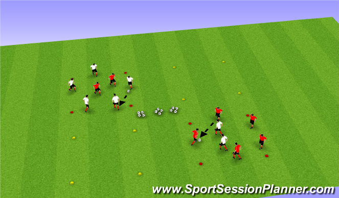 Football/Soccer Session Plan Drill (Colour): Part I: Rondo