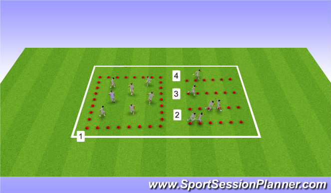 Football/Soccer Session Plan Drill (Colour): U15s / U16s, Week 22, Session 1, Speed