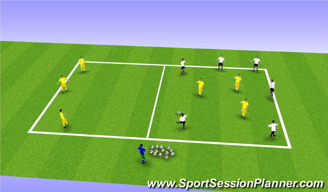 Football/Soccer Session Plan Drill (Colour): Possession w/Purpose